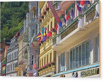 Karlovy Vary Wood Print by Mariola Bitner