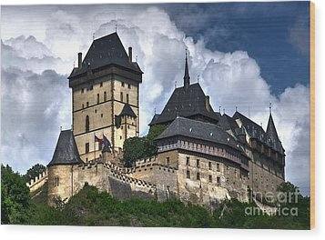 Wood Print featuring the photograph Karlstejn Castle In Prague 2 by Joe  Ng
