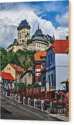 Karlstejn Castle In Prague  Wood Print