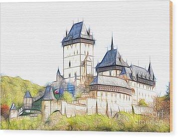 Karlstejn - Famous Gothic Castle Wood Print by Michal Boubin