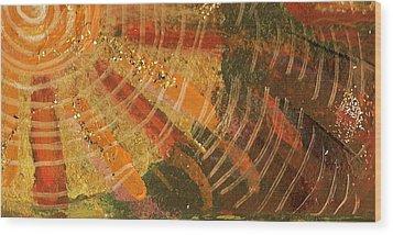 Karma  Wood Print by Anne-Elizabeth Whiteway