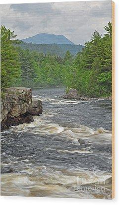 Katahdin And Penobscot River Wood Print