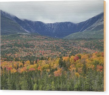 Wood Print featuring the photograph Katahdin Fall by Gene Cyr