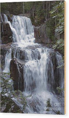 Katahdin Stream Falls Baxter State Park Maine Wood Print