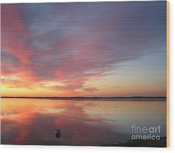 Katama Sunrise Wood Print by Jewels Blake Hamrick