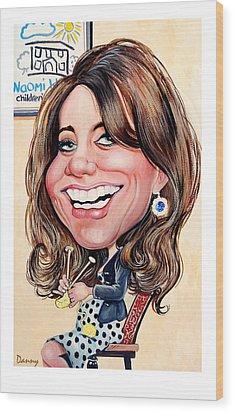 Kate Middleton. Duchess Of Cambridge Wood Print by Daniel Byrne