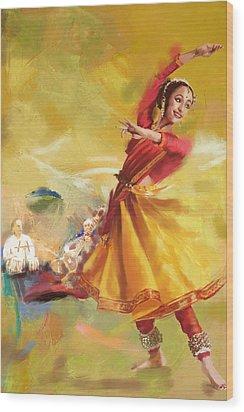 Kathak Dance Wood Print by Catf