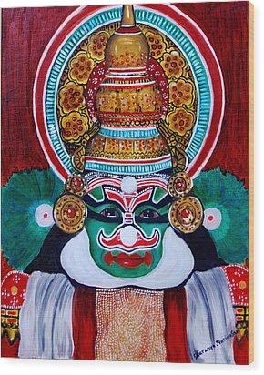 kathakali..Duryodhana Wood Print by Saranya Haridasan