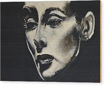 Wood Print featuring the painting Katherine by Sandro Ramani