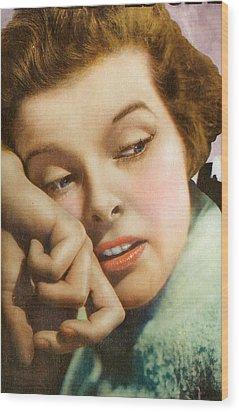Kathryn Hepburn Wood Print by Studio Artist