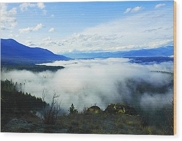 Katka Mountain Lookout Wood Print by Annie Pflueger