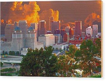 Katrina Storm Hits Cincinnati Wood Print