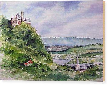 Katz Castle Wood Print