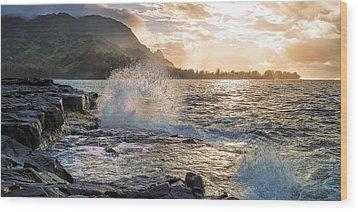Wood Print featuring the photograph Kauai Coast by Hawaii  Fine Art Photography