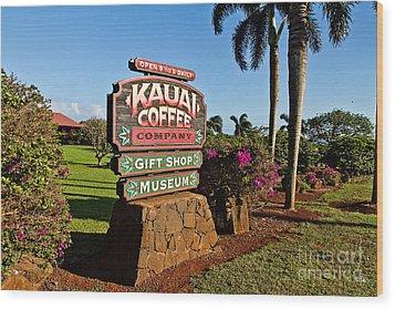 Kauai Coffee Wood Print by Scott Pellegrin