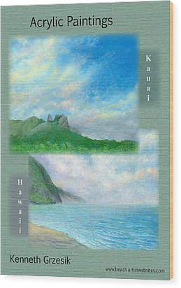 Kauai Painting Poster 2 Wood Print by Kenneth Grzesik