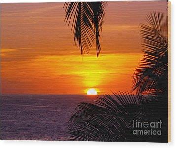 Kauai Sunset Wood Print