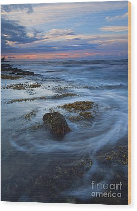Kauai Tides Wood Print by Mike  Dawson