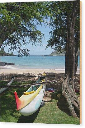 Kauai Watersports Wood Print by Dee  Savage