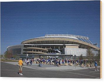 Kauffman Stadium - Kansas City Royals Wood Print by Frank Romeo