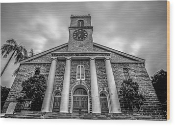 Wood Print featuring the photograph Kawaiaho Church  by Robert  Aycock