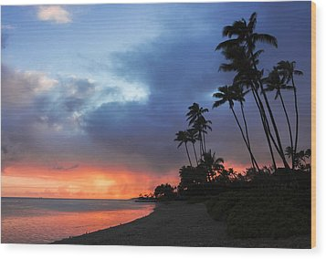 Kawaikui Sunset 2 Wood Print