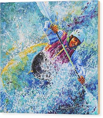 Kayak Crush Wood Print by Hanne Lore Koehler