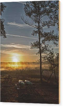 Wood Print featuring the photograph Kayak Morning by Margaret Palmer