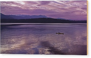 Wood Print featuring the photograph Kayak On Dabob Bay by Greg Reed