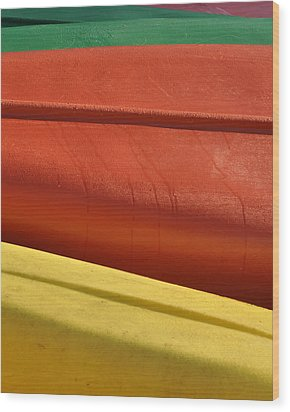 Kayak.1 Wood Print