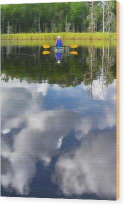 Kayaker Wood Print