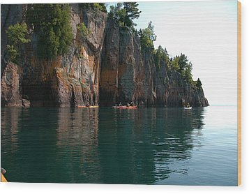 Wood Print featuring the photograph Kayaking By Shovel Point by Sandra Updyke