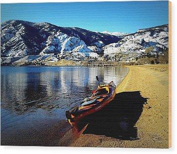 Kayaking In January Wood Print