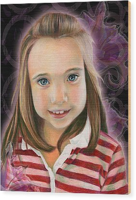 Kaylee Wood Print by Heather Raven Illingworth