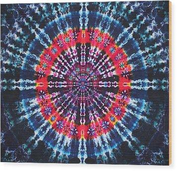 Kazamm Mandala Wood Print by Courtenay Pollock