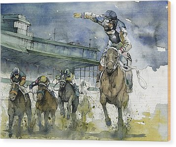 Keeneland  Wood Print by Michael  Pattison