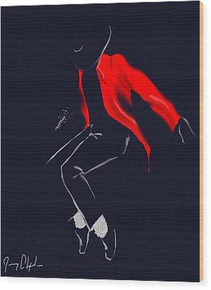 Keep Dancing Wood Print by Jeremy Alexander