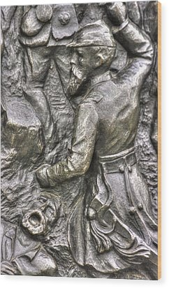 Keep Moving - Charge Of The 106th Pa Volunteer Infantry To The Emmitsburg Road Detail-a Gettysburg Wood Print by Michael Mazaika