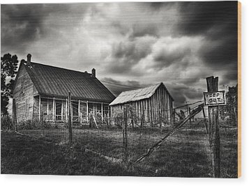 Keep Out Wood Print by Robert FERD Frank