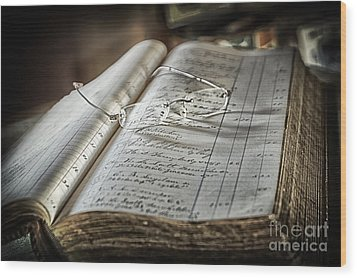 Wood Print featuring the photograph Keeping The Books by Vicki DeVico