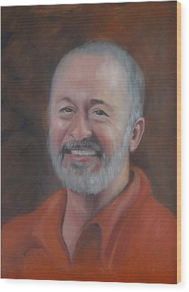 Wood Print featuring the painting Keith by Carol Berning