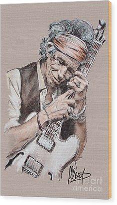 Keith Richards Wood Print by Melanie D