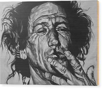 Keith Richards Wood Print by Steve Hunter