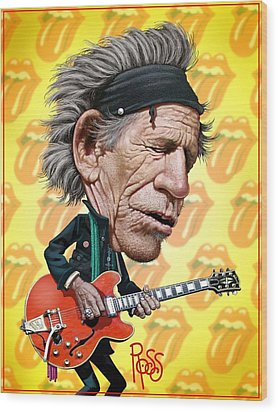 Keith Richards Wood Print by Scott Ross