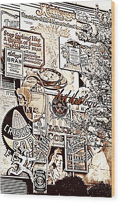Kellogg's Wall Wood Print by Sennie Pierson