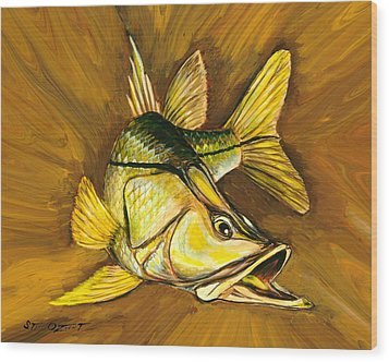 Kelly B's Snook Wood Print by Steve Ozment