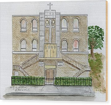 Kelly Temple Church In East Harlem Wood Print