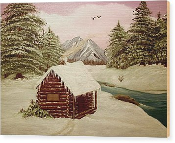 Wood Print featuring the painting Kelly's Retreat by Sheri Keith