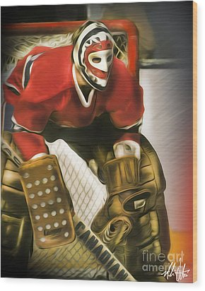 Ken Dryden Wood Print by Mike Oulton