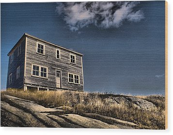 Kendell Store Pushthrough Nl Wood Print by Douglas Pike